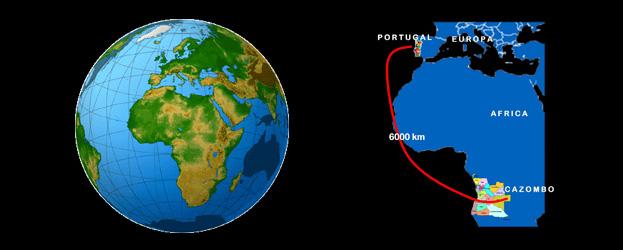 Mapa de Cazombo